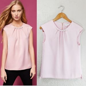 Ted Baker London Camble Pink Pearl Embellished Top